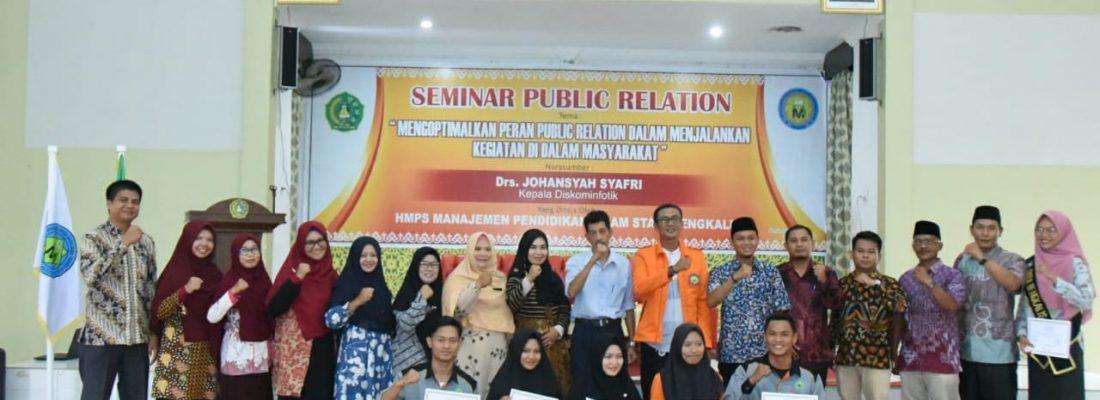 Taja Seminar Public Relation, Prodi Manajemen Pendidikan Islam (MPI) Hadirkan Kepala Diskominfotik Bengkalis